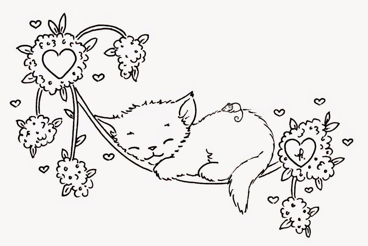 маленький котенок раскраска