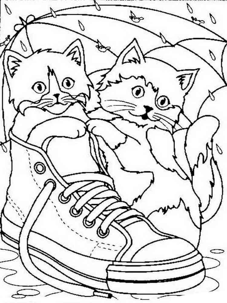 мини раскраска котят