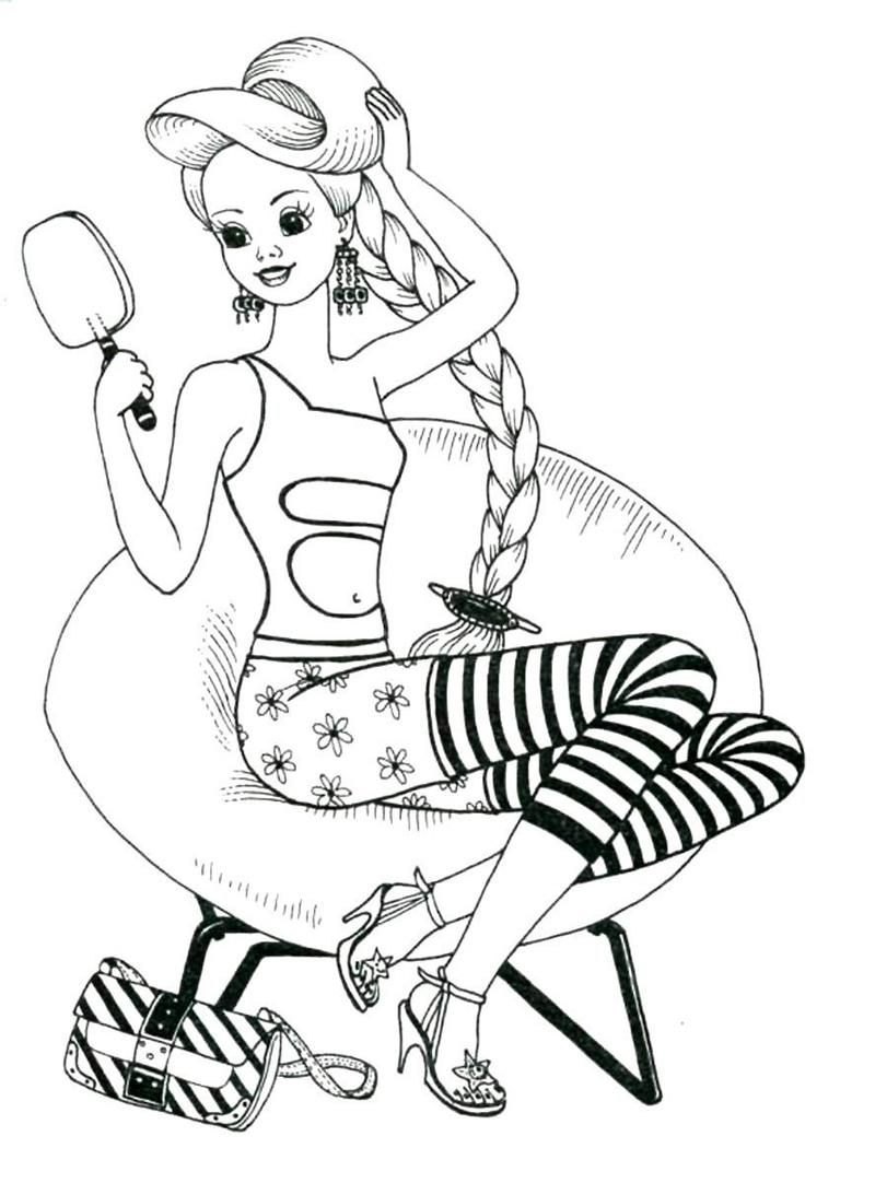 модные раскраски для девочек