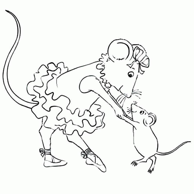 мышка балерина раскраска