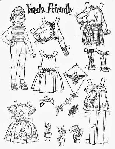 одежда для кукол раскраски для детей