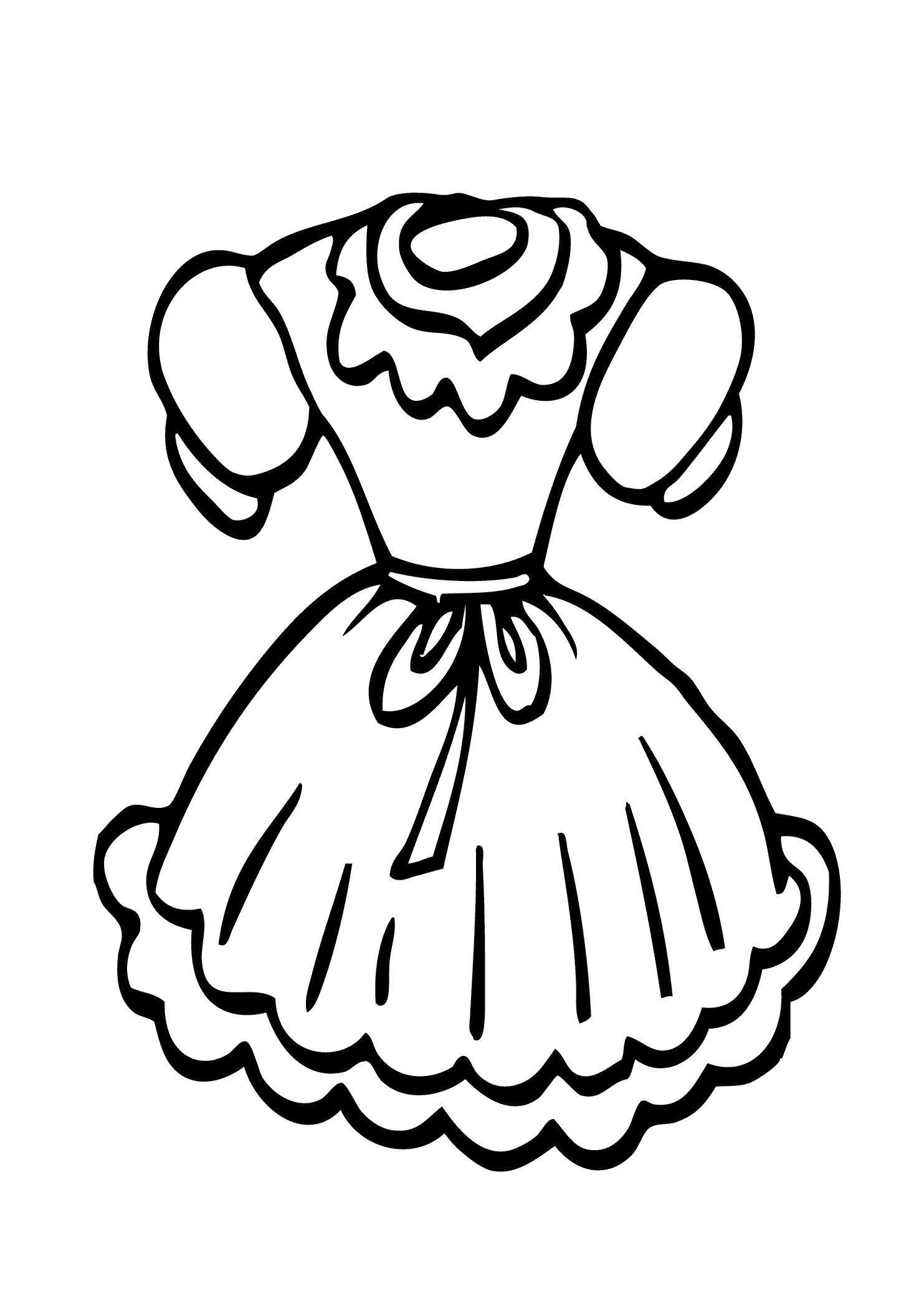 раскраски платье для куклы распечатать дама толстой