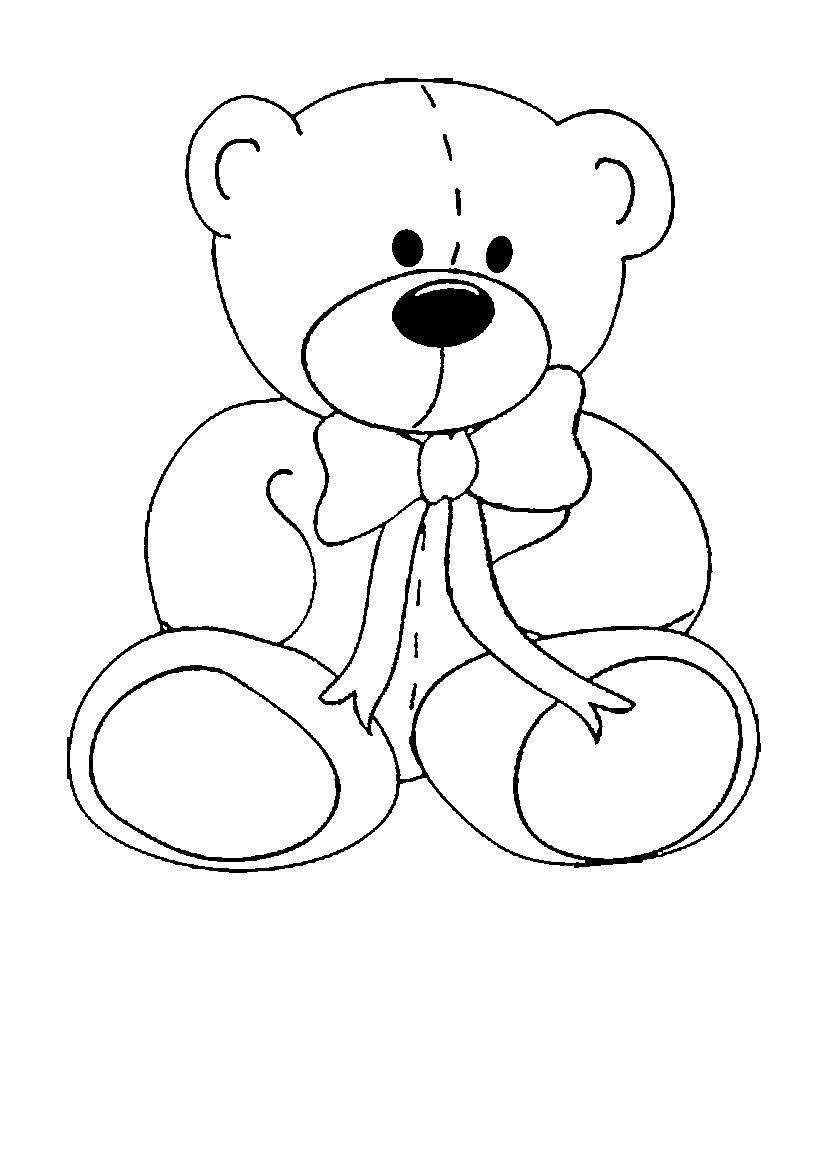 Картинка медвежонка для аппликации
