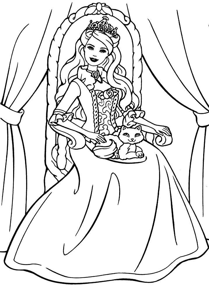 раскраски принцессы дисней распечатать бесплатно