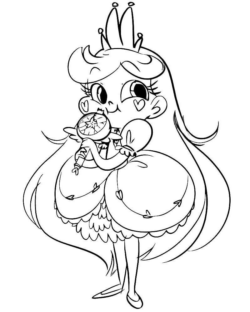 Раскраски для девочек принцессы: в красивых платьях, из ...