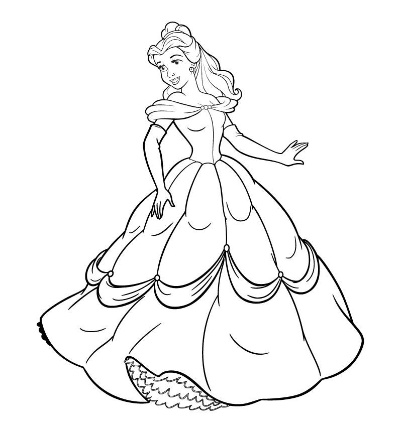 Принцессы в красивых платьях