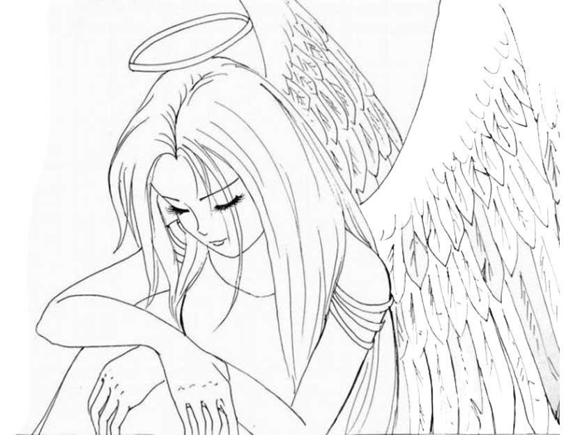 раскраска аниме для девочек 12 лет