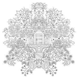 раскраска антистресс джоанна басфорд таинственный сад