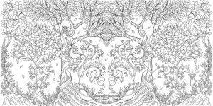 раскраска антистресс джоанна басфорд заколдованный лес