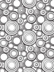 раскраска антистресс круги красивые узоры