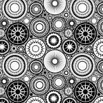раскраска антистресс узоры круги со звездами
