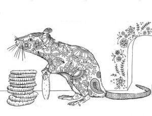 раскраска антистресс крыса