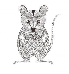 раскраска антистресс мышка