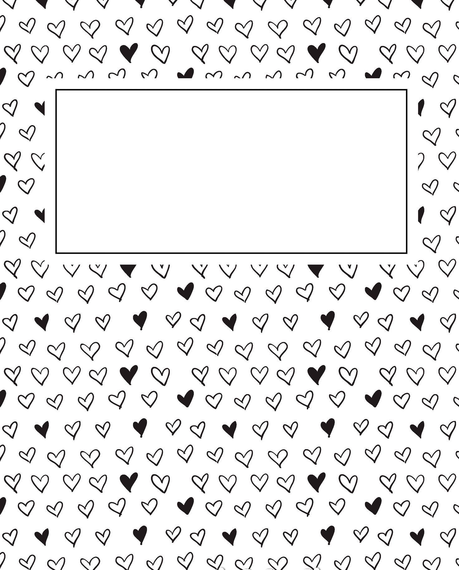 раскраска антистресс обложка на тетрадь сердечки