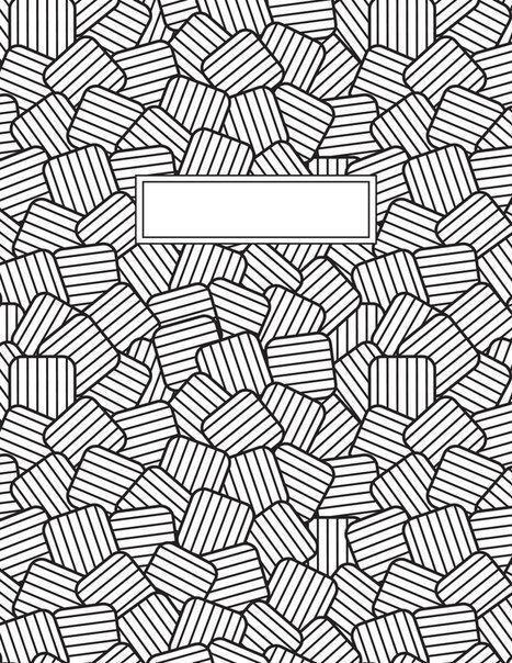 раскраска антистресс обложка на тетрадь узоры