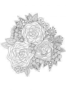 раскраска антистресс розы