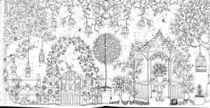 раскраска антистресс сказочный лес