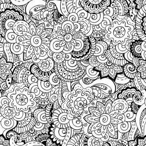 раскраска антистресс сложные узоры цветы распечатать