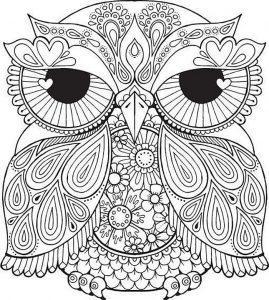 раскраска антистресс сова