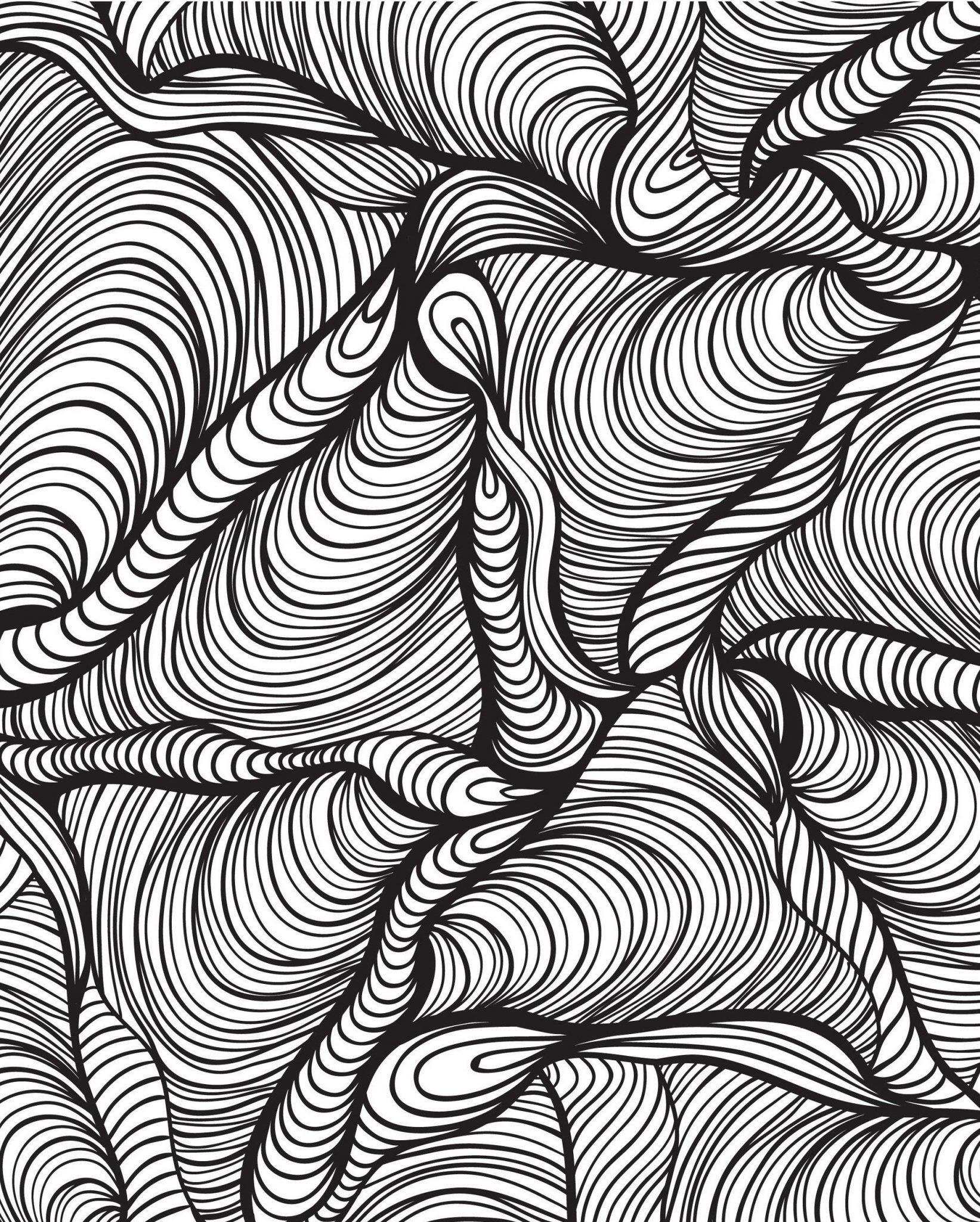 Раскраска антистресс абстракция этом