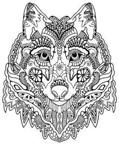 раскраска антистресс волк с грустными глазами распечатать
