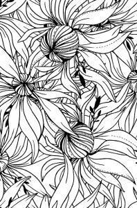 раскраска антистресс волшебные цветы