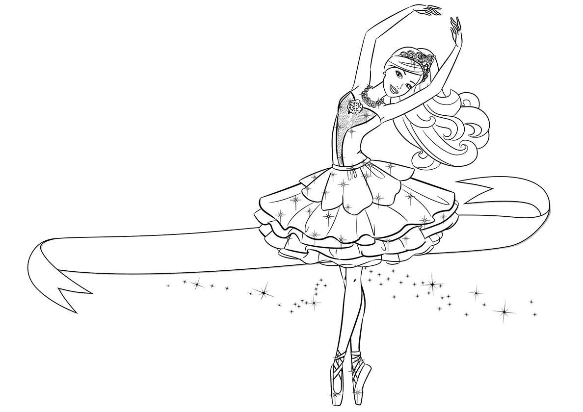 раскраска балерина распечатать