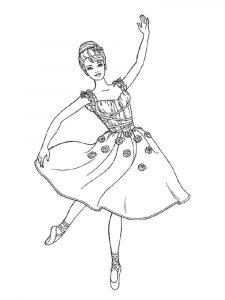 раскраски балерина для девочек распечатать бесплатно