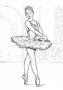 раскраска балерина распечатать бесплатно