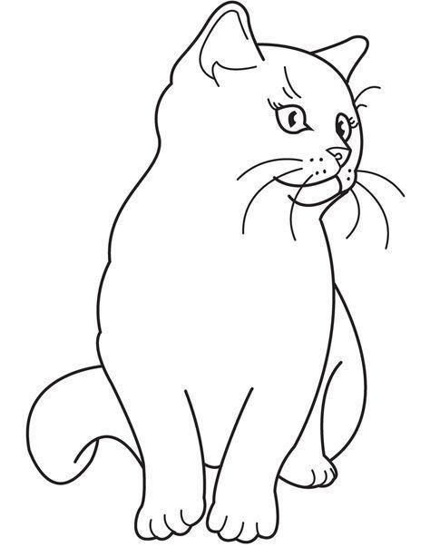 раскраска для детей 3 лет кошка
