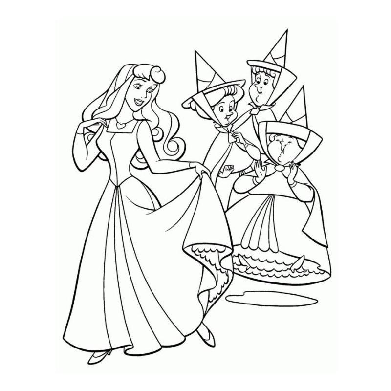 Раскраска для девочек феи и принцессы