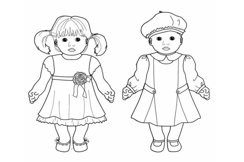 раскраска для девочек куклы