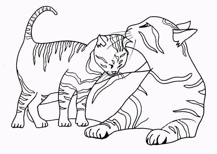 раскраска кошка распечатать