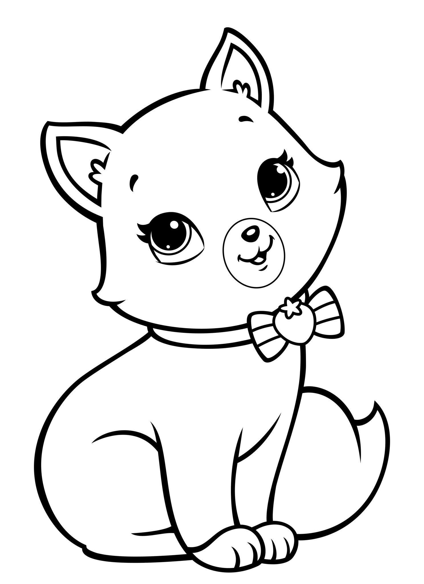 раскраска котенка для детей 3 4 лет
