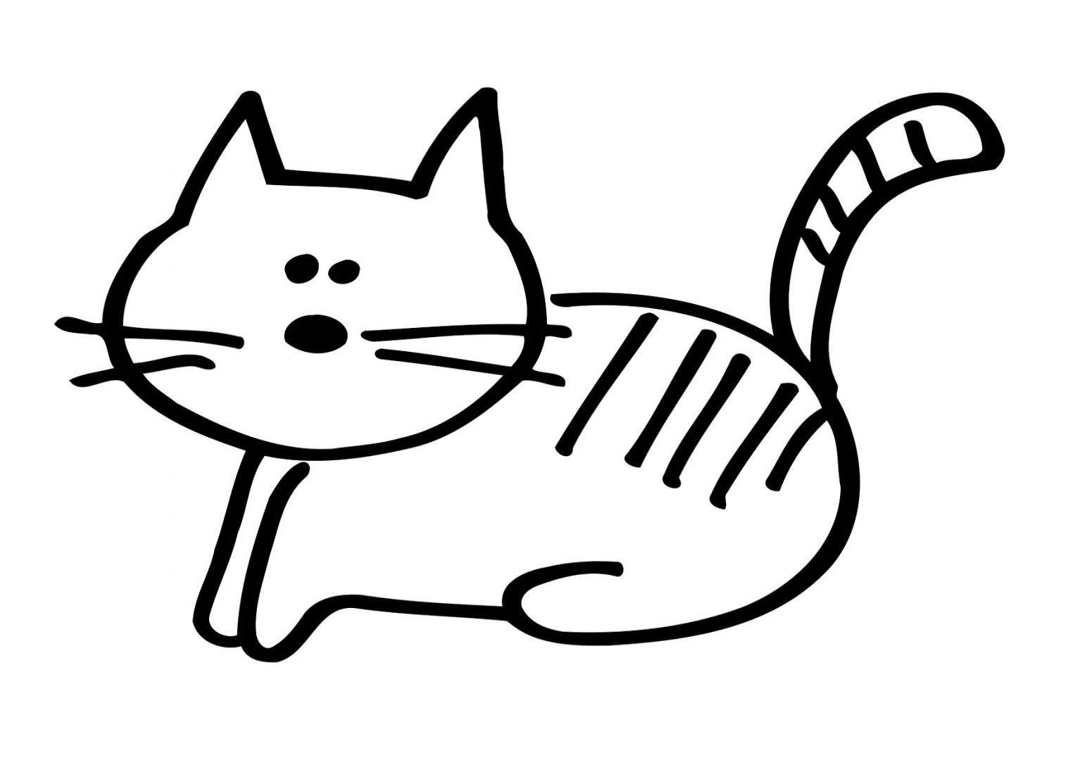 раскраска котенок малышам