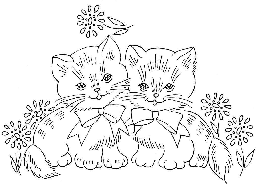 раскраска котята милые и смешные