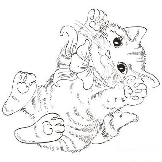 раскраска котята сложные