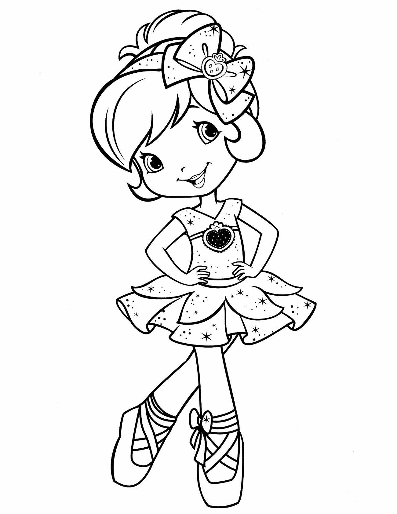 раскраска кукла балерина