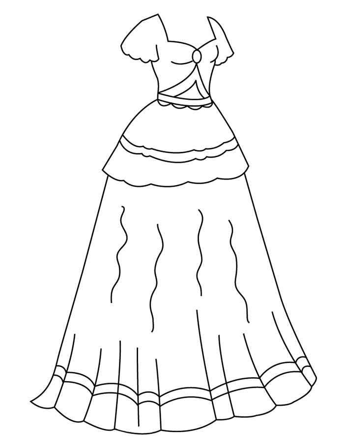 раскраски платье для куклы распечатать предлагаем широкий