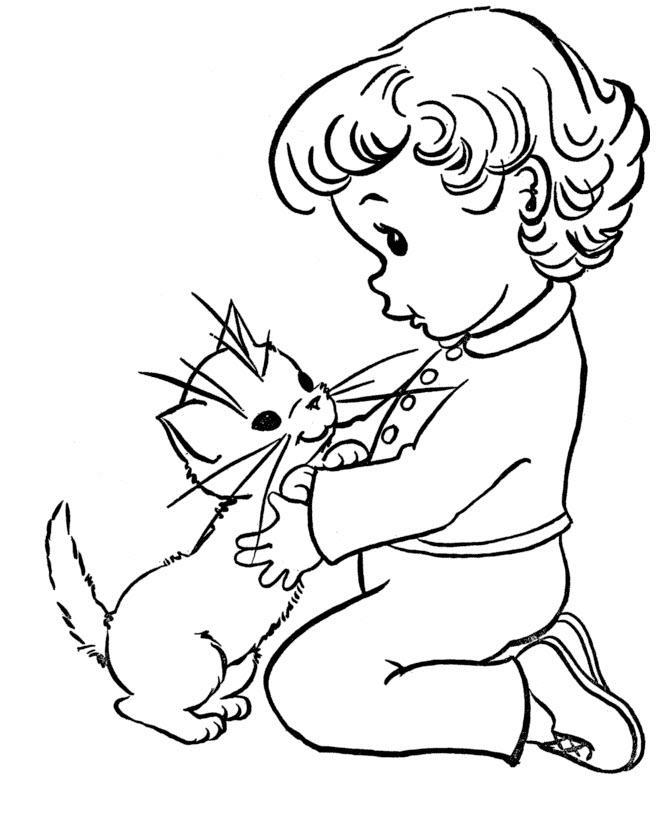 раскраска реалистичных котят