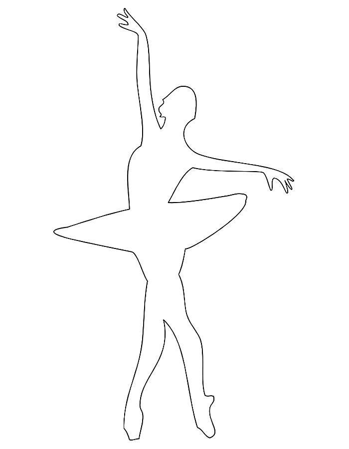 раскраска силуэт балерины