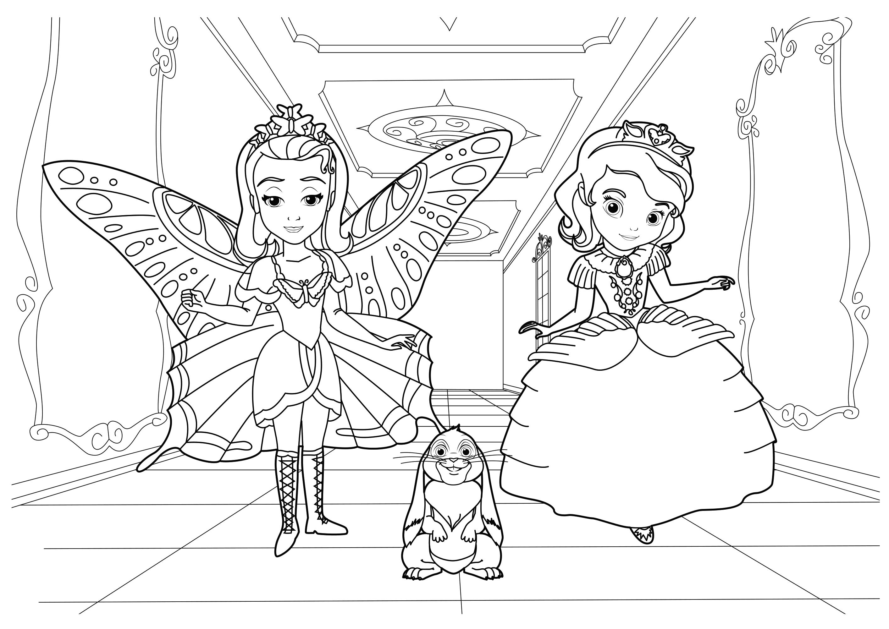 раскраска софия прекрасная распечатать с подругой