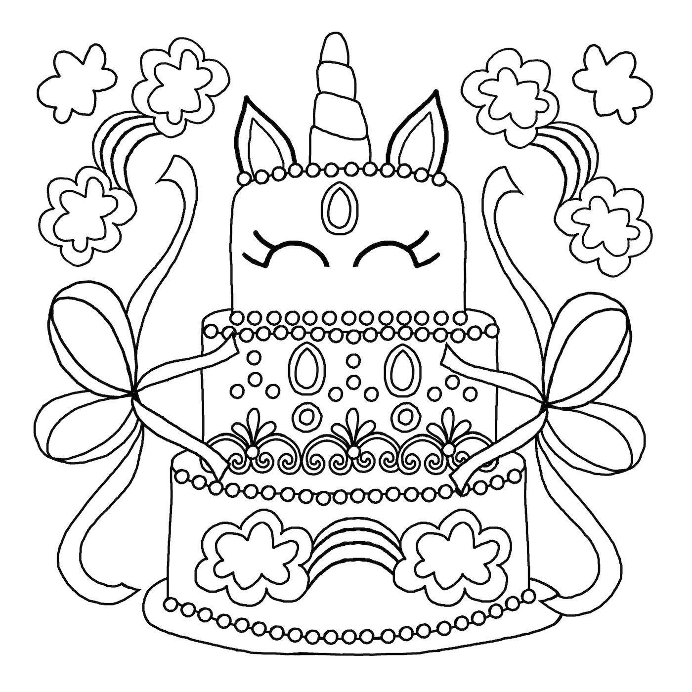 раскраска торт распечатать