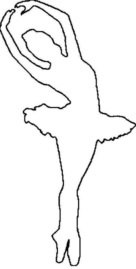 раскраска трафарет балерина