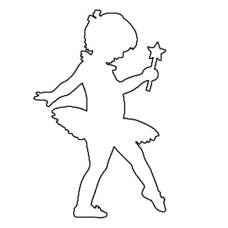раскраска трафареты девочек балерин