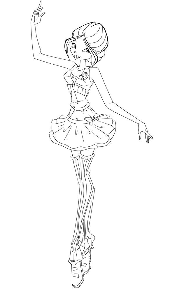 раскраска винкс балерины