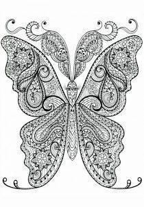 раскраски антистресс бабочка сложная распечатать