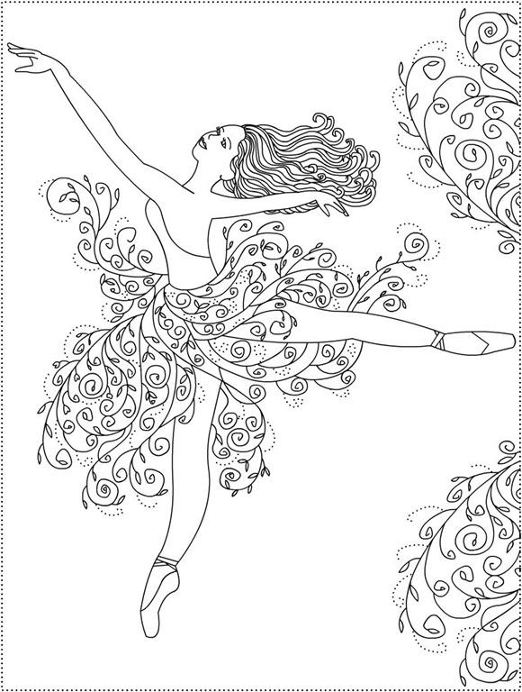 раскраски антистресс балерины
