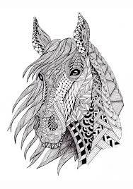 раскраски антистресс голова лошади