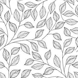 раскраски антистресс листья